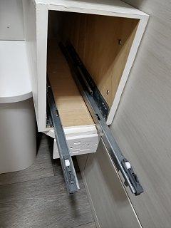 Click image for larger version  Name:1 - new drawer open shoing blum slide hw.jpg Views:78 Size:185.9 KB ID:293996