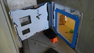 Click image for larger version  Name:Water Heater Door Test Fit with Clecoes - Open.jpg Views:86 Size:434.0 KB ID:300078