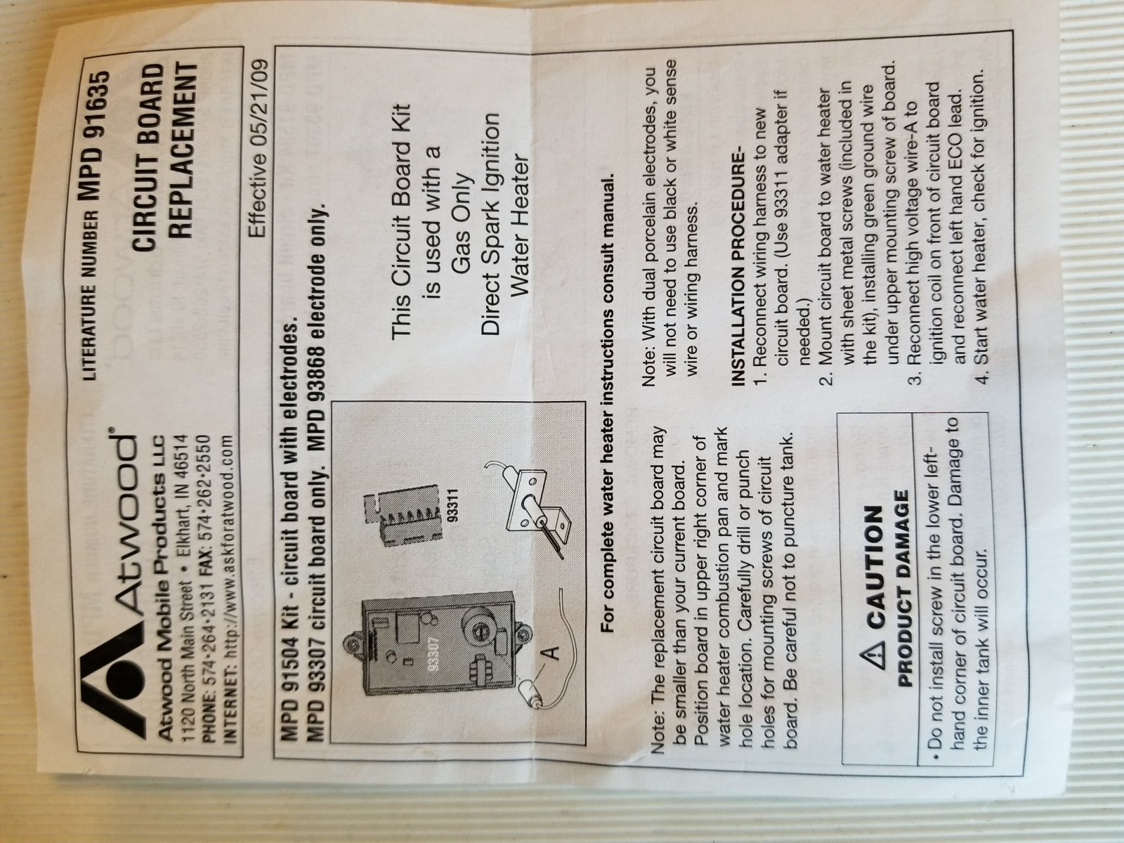 Atwood Water Heater Not Igniting - Airstream Forums