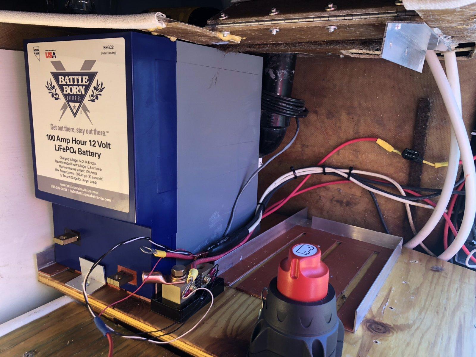 Battleborn golfcart battery & 2,000 watt inverter installation