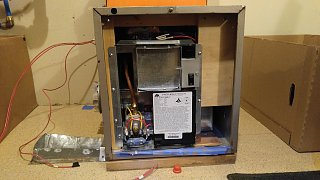 Click image for larger version  Name:New Furnace Secured in Old Furnace Case and Propane Line Connected.jpg Views:21 Size:218.3 KB ID:358350