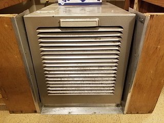 Click image for larger version  Name:Aluminum Trim Reinstalled Around Furnace Cabinet Opening.jpg Views:19 Size:413.2 KB ID:390365
