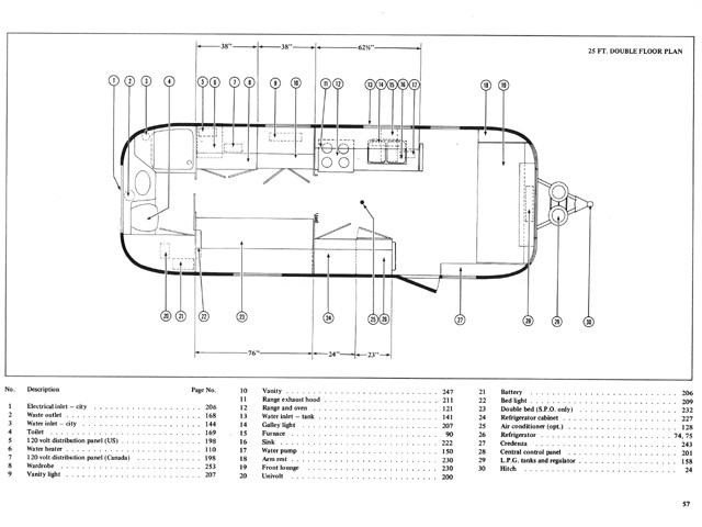 vintage airstream floor plans - airstream forums