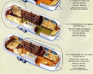 floorplan sovereign 1973 airstream forums
