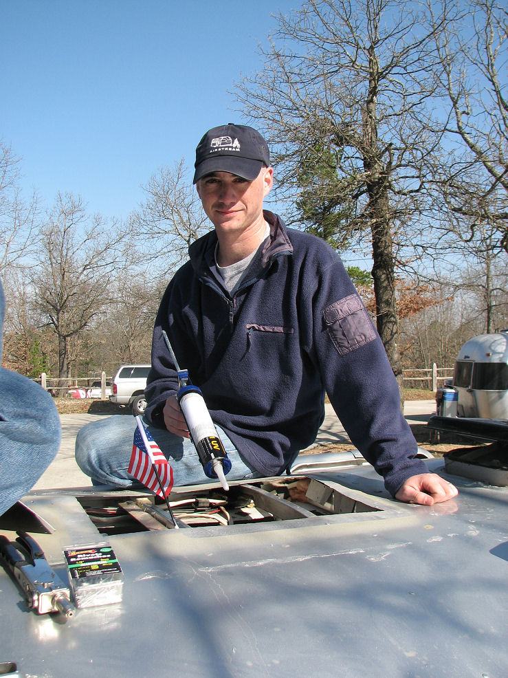 Click image for larger version  Name:Steve about to caulk.JPG Views:97 Size:243.6 KB ID:57734