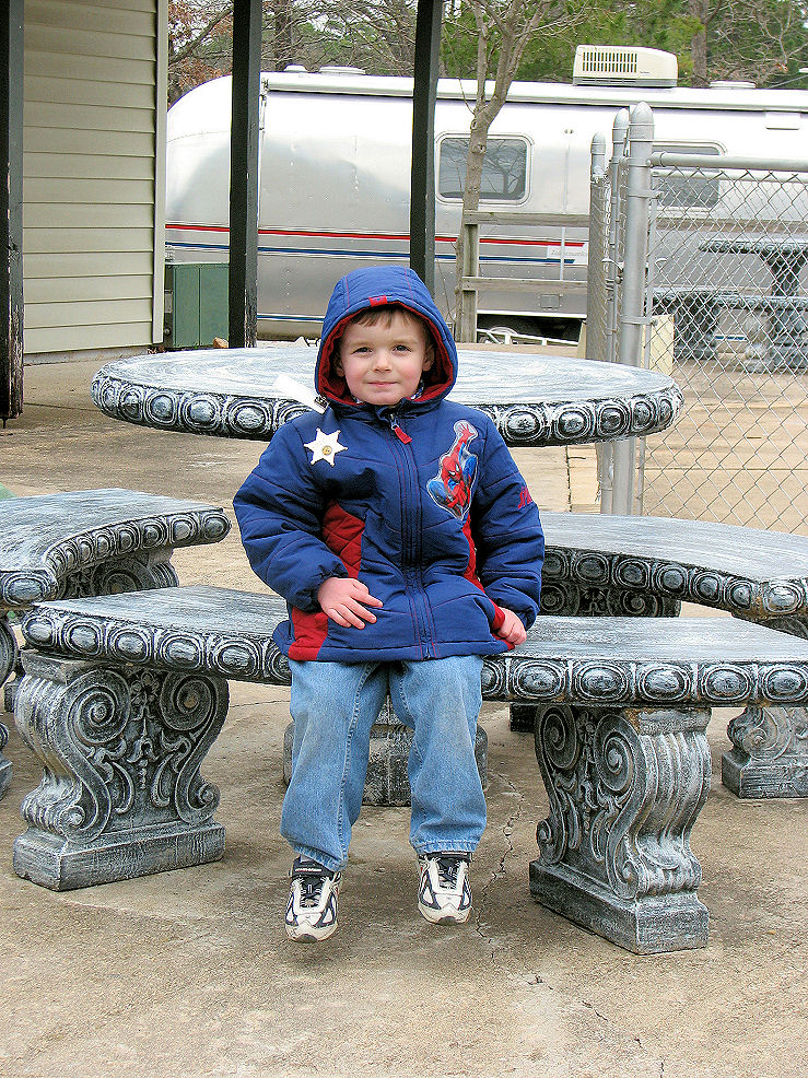 Click image for larger version  Name:Collin sits at picnic table.JPG Views:98 Size:358.7 KB ID:57744