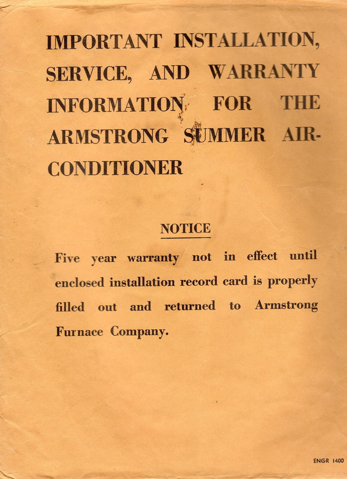 Click image for larger version  Name:Armstrong AC Installation, Service and Warrant Envelope.jpg Views:73 Size:226.9 KB ID:80880