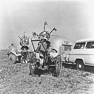 Click image for larger version  Name:AFRICA 1959 (184) Durban, Wally Byam enjoys Zula ricksha at camp site 2500.jpg Views:117 Size:626.7 KB ID:84152