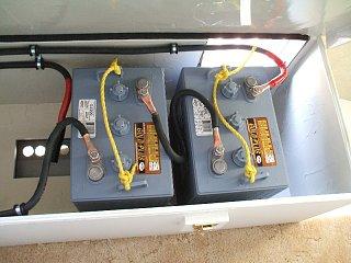 Click image for larger version  Name:6 Volt Golf Car Batteries 225 AH-soldered lugs onto 1 gauge welding cable.JPG Views:130 Size:404.0 KB ID:85596