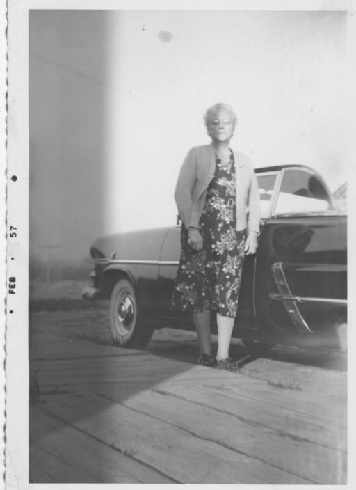 Click image for larger version  Name:GRANDMA AND HER NEW FORD ca FALL 1956.jpg Views:87 Size:27.4 KB ID:91796