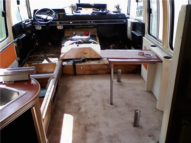 Click image for larger version  Name:Galley looking foward to cockpit with new carpet.jpg Views:80 Size:51.9 KB ID:95486
